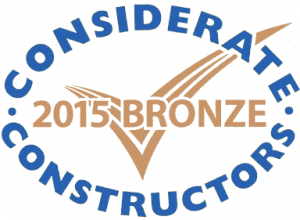 Considerate Constructors - Bronze Award 2015